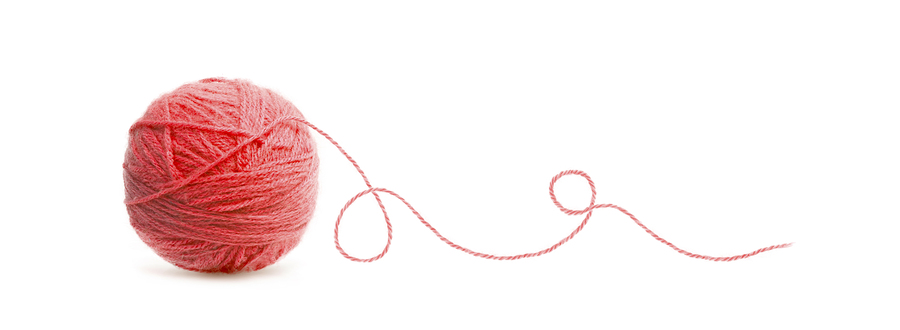 ball of red thread