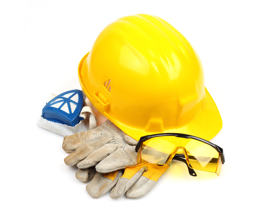 safety helm and gloves